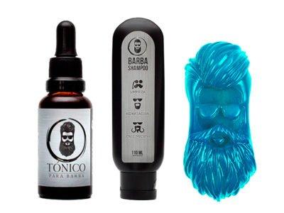 Tónico Para Barba + Barba Shampoo + Barba Jabón + Envió Gratis